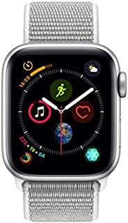 Apple Watch Series 4-44mm Space Silver Aluminum Case with Seashell Sport Loop, GPS, watchOS 5