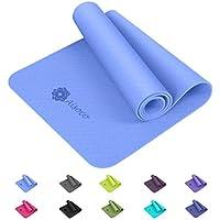 Aisoco Premium TPE Yoga Mat Pilates Mat - Ecológico, Antideslizante - con Bolso y Correa