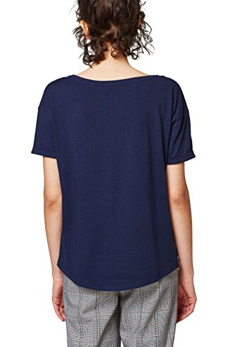 edc by ESPRIT Damen T-Shirt Blau (Navy 400)