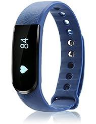 iMusi Bracelet Connecté Tracker d'activité Avec Fonction Stop-Watch Smartwatch bluetooth 4.0 - Bleu