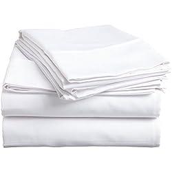 """# 1Juego de sábanas–la más alta calidad 100% algodón egipcio 800thread-Count Reina tamaño arruga, se descolora, resistente a las manchas–4piezas (sólido blanco) 16""""drop–por"""" rajlinen """""""
