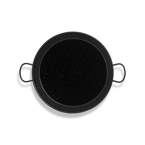 La Valenciana Pfanne 10 cm, emaillierter Edelstahl, Paella-Pfanne, Schwarz 34 cm schwarz