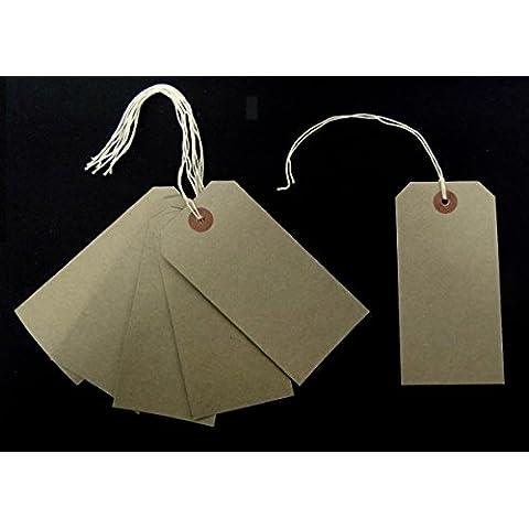 Hiedra Piel De Ante Marrón Etiquetas Con Cordeles 120mm x 60mm Etiquetas De Equipaje Placas Entradas Atar En Cuerda etiquetas (Paquete De 50)