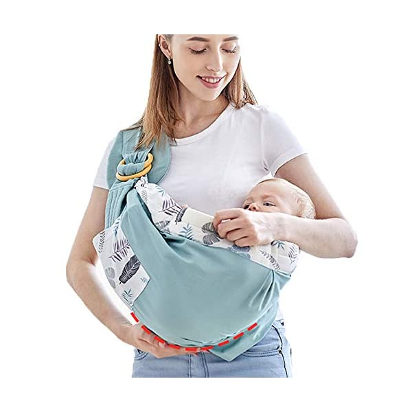 Baby Wrap Carrier, Adjustable Breastfeeding Cover Cotton, Suitable for Newborns, Infants & Toddlers, Soft and Comfortable, Ideal Gift Upchase Practical, safe, versatile and easy to use; Sturdy fabric holds your baby safely and securely. Allow your hands to be free: free your hands with this baby carrier; wash dishes, go for walks, go shopping or walk your dog while quieting a restless baby. Enhance the bond with babies who all love being close to mommy; Stay close to mom's heart, a baby can hear your heart beating and feel the warmth from your body in the baby carrier where he can feel peace of mind. 1