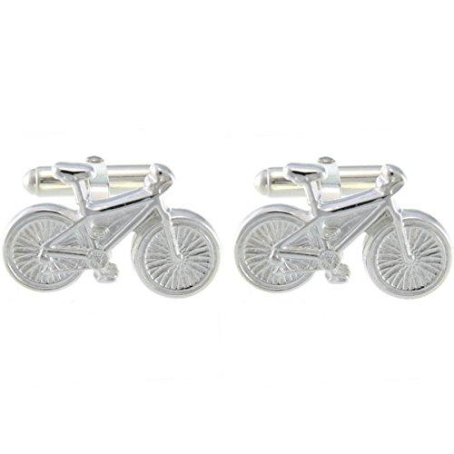 Sterling Silber Fahrrad Manschettenknöpfe & Geschenkbox–Herren Geschenk