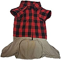 Douge Couture Cotton Jumpsuit for Dogs (Brown, 18)
