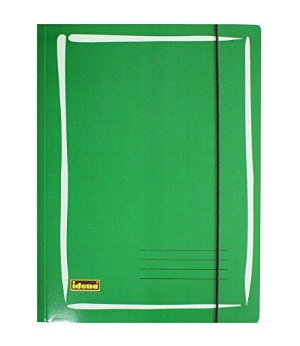 Preisvergleich Produktbild Idena 213200 - Sammelmappe für DIN A4 aus Glanzkarton mit Gummizug, 300 g/m², grün