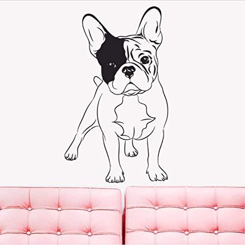 sche Bulldogge Hunde Home Schlafzimmer Dekoration Pet Shop Wandaufkleber Puppy Puppy Dogs Home Kunstwand 42X71 Cm ()