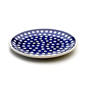Polish Pottery Boleslawiec Plate, Lunch, 19.5cm in TADPOLE pattern
