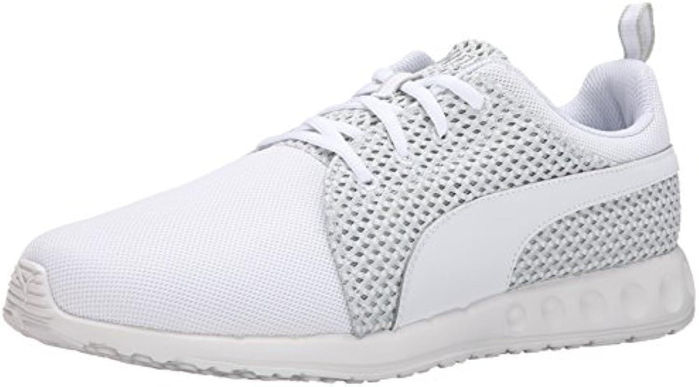 Puma Men's Carson Runner Knit Lace up Fashion Sneaker  White/Gray Violet  8 M US