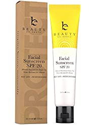 Soin solaire pour le visage - Crème hydratante solaire pour le visage, indice de protection 20. Produit biologique...