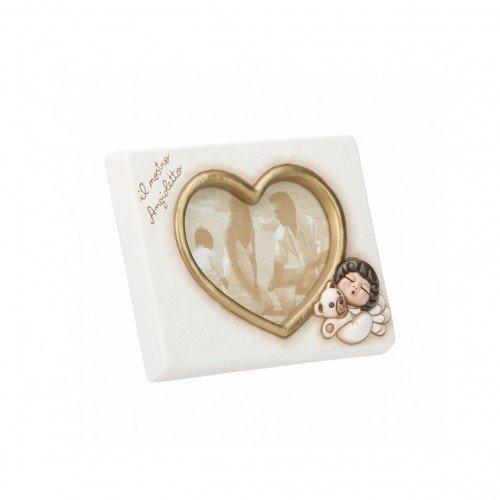 Thun cornice portafoto piccolo il nostro angioletto da tavolo-formato 10 x 15 cm-color avorio-ceramica