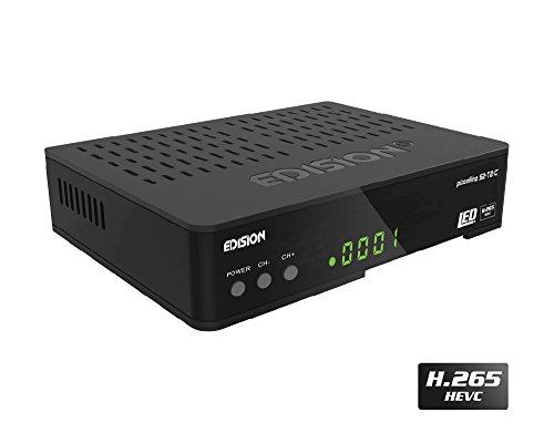 Edision PICCOLLINO S2+T2/C Combo Receiver H.265/HEVC (DVB-S2, DVB-T2, DVB-C) Full HD USB - C-map