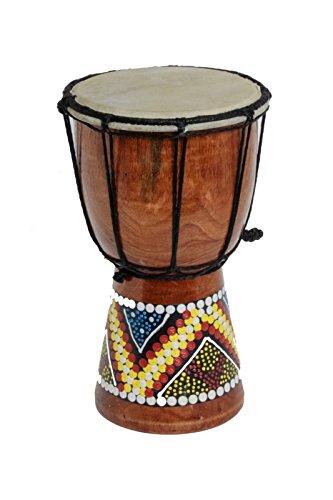 50cm Anfänger Djembe Trommel Bongo Drum Holz Bunt Bemalt