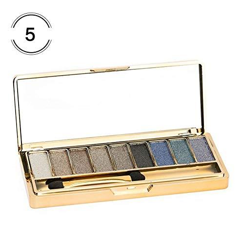 Sunflowerany 9-Color Shimmer Lidschattenpulver Gold Shimmer Earth Tone Bleibende Wischfrei-Lidschatten-Palette Für Natürliches Naked Makeup
