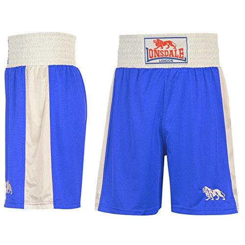 Lonsdale Herren Boxing Shorts Trainingshose Boxen Sporthose Kurze Hose Blau/Weiss