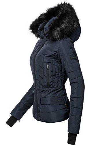 Navahoo Damen Winter Jacke Steppjacke Adele (vegan hergestellt) Navy Gr. M
