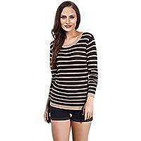 VB–Maglione da donna Loose maglia con strisce