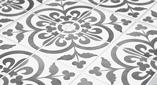 MoonStickers Fliesenaufkleber Decals - Packung mit 10 Fliesenaufkleber - 10 Einzelne Fliesen - Fliesenaufkleber (Fußboden - 20 x 20 cm, Portuguese Encaustic Fliesenaufkleber)