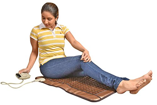 JSB HF89 Foldable Tourmaline Hot Stone Massager Mattress : Thermal Therapy for Full Body Pain Relief (45cm X 80cm)  available at amazon for Rs.6999