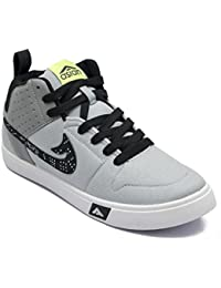 Asian Skypee-31 Grey Black Running Shoes,Walking Shoes,Lifestyle Shoes,Gym Shoes,Casual Shoes For Men UK-9