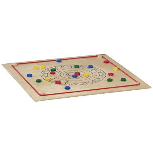 Pedalo Tischcurling aus Holz I Indoor Curling I Familienspiel I Spieleabend I Sportspiel I Brettspiel