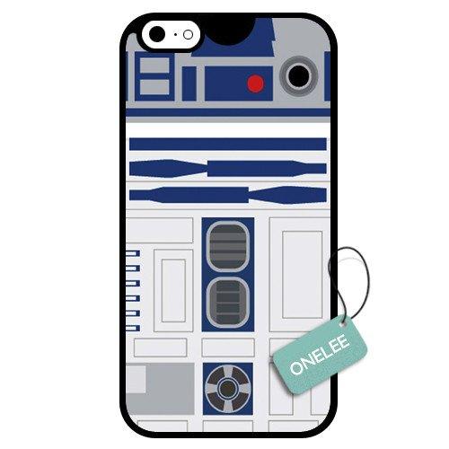 onelee (TM)-Star Wars R2D2sur mesure Coque en TPU pour Apple iPhone 6-09Noir