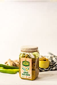Adrak Hari Mirch Ka achar/Ginger Green Chilli Pickle 400 gm - Homemade, Farm fresh, Preservative Free & Traditional Taste
