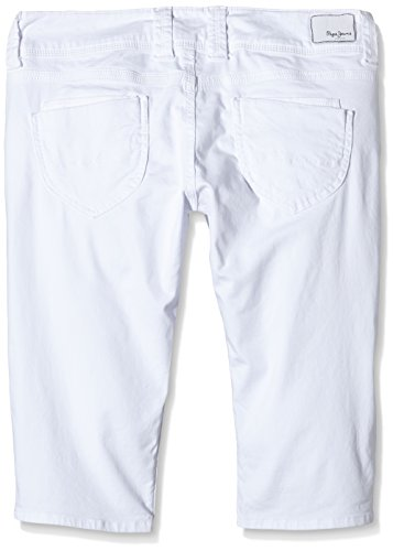 Pepe Jeans London Venus Crop, Bermuda Donna Bianco