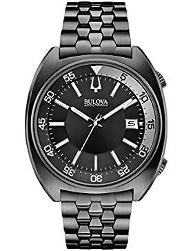Bulova unisex-Armbanduhr Snorkel Analog Quarz Edelstahl beschichtet 98B219