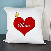 Personalised King/Queen Love Heart Throw Cushion Cover - Gift for Couples, Mr & Mrs, Mr & Mr, Mrs & Mrs, Christmas, Birthdays, Valentine's Day, Anniversary Gifts