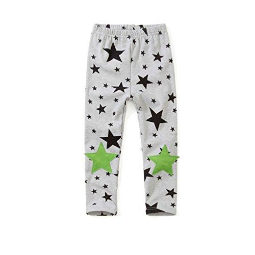 Namnoishop kids costume Cartoon Five-Pointed Star Knee Girl Pants School Child Leggings (Size 10)