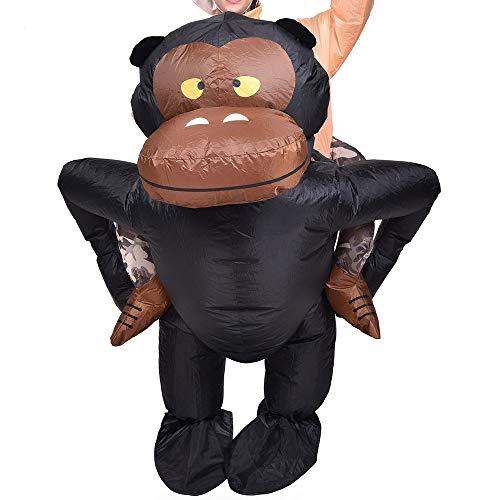 Affen Kostüm Piraten - lem Aufblasbare Schimpanse Schimpanse AFFE Gorilla Ape Kostüm Party Outfit Anzug Erwachsene