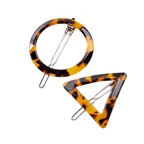 2 Paare Geometrische Form Leopard Haarspangen-Frauen Mädchen Haar Klaue Klammern Haarnadel Styling Zubehör Haar Fringe Grip -