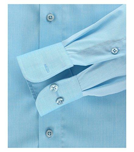Casa Moda - Comfort Fit - Bügelfreies Herren Business Langarm Hemd verschiedene Farben (006060) Blau (16)