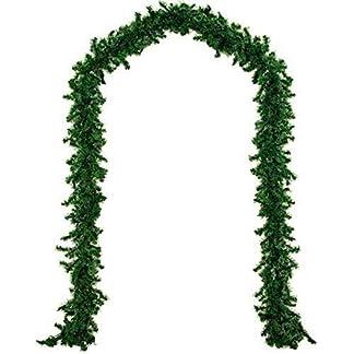 Guirnaldas decoraciones, verde claro Navidad ratán guirnalda decoración 9ft sin decorar árbol de Navidad artificial guirnaldas ornamento verde pino guirnalda