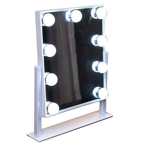 Yanzhen illuminato specchio per il trucco dimmerabile bicolore touch screen lampadina hollywood dressing fill light ferro, 2 colori (colore : bianca, dimensioni : 31x36cm)