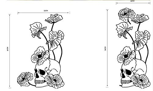 Shuyinju 55 * 87 Cm Halloween Skelett Hintergrund Dekoriert Wohnzimmer Schlafzimmer Wandaufkleber