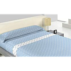 Juego de Sábanas Polar Pirineo Posto Azul cama 150