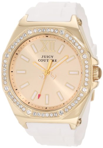 Juicy Couture 1901032 42mm Stainless Steel Case Silicone Mineral Women's Watch