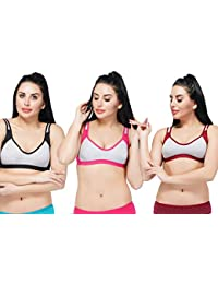 21e7c881786256 AJ FASHIONS Women s Full Coverage High Impact Support Wirefree Workout  Sports Bra (Pack of 3