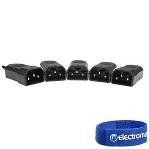 5x Skytronic Male IEC Kettle Lead Plug Connectors