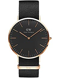 Daniel Wellington Unisex-Armbanduhr CLASSIC BLACK Analog Quarz Textil DW00100148