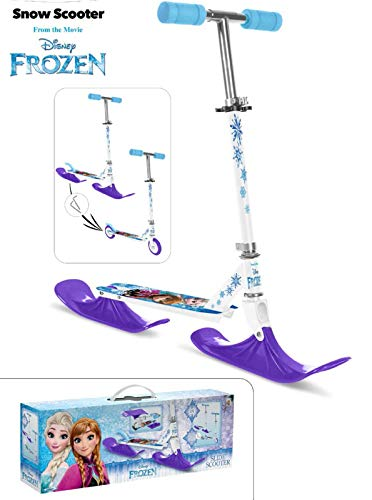 Disney, Frozen 2 in 1 Alu Aluminium Kinder Schnee Snow Glider Snowglider Scooter Schlitten Gleiter Roller Tretroller Eiskönigin