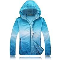 Tinksky Playa de capa Anti-UV ropa sol al aire libre chaqueta de protección protector solar ropa - tamaño S (azul)