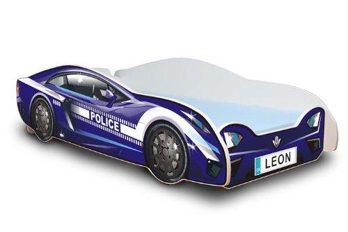 BEST FOR KIDS CAMA DE BEBE AUTO CAMA 80x180 POLICE BLUE Fabricado en la UE