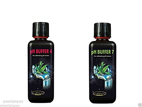 Greenlight Guys Lot de 2 bouteilles de solution d'étalonnage pH Buffer 4 et pH Buffer 7 300 ml