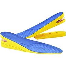 """2-capa agregar 2""""(5 cm) Altura Invisible Plantilla de Zapato y Altura Ajustable para Mujeres, Azul"""