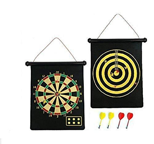 KEZIO Umkehrbares Dartboard & Golf Dartspiel 6 Darts Aufrollen Einfach zu verstauen und sicher zu Spielen Traditionelles Dartboard -