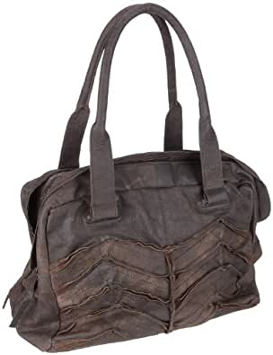 Friis & Company Twist Leather Bag 1110127 Damen Schultertaschen, Braun  (Brown), 34 x 23 x 18 cm (B x H x T)